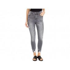 Woman's KUT from the Kloth Connie High-Rise Ankle Skinny with Raw Hem in Braver Braver Wash CIJKC355
