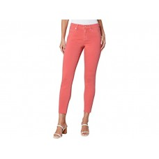 Woman's Liverpool Abby Ankle Skinny Jeans with Cut Hem in Hot Coral Hot Coral FVMAE351