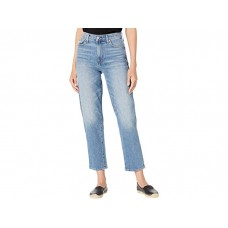 Woman's 7 For All Mankind High-Waist Cropped Straight in Alpine Drive/Destroy Alpine Drive/Destroy MXBVP768