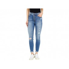Woman's KUT from the Kloth Connie High-Rise Fab Ab Ankle Skinny Button Fly in Appeasing Appeasing PSCDW473