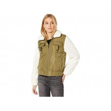 Women Blank NYC Nylon and Faux Sherpa Bomber Jacket Take It Easy AABDC286