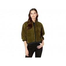 Woman's Hurley Sherpa Jacket Zip Olive Canvas FOKMD170
