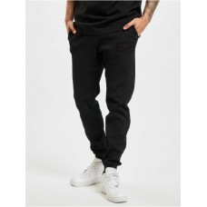 BALR Men Sweat Pant Loose Club Embro Waffle in black cotton 12% polyester Cut Off BZLFZ293