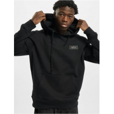 Alpha Industries Men Hoodie Back Print Foil Print in black cotton 20% polyester Selling Well YNTDX694