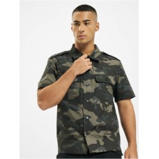 Brandit Men Shirt US Ripstop in camouflage polyester 20% cotton Cut Off YUHJP434