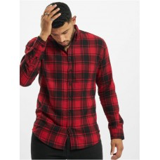 Denim Project Men Shirt Check in red New Arrival DHVNO124