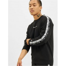 Champion Men Pullover Logo Tape in black cotton 21% polyester Sale HDMHY146